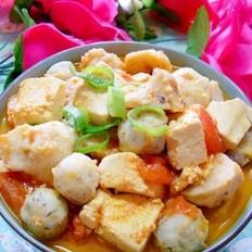 西红柿鱼丸豆腐汤