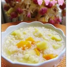 苹果玉米南瓜炒米粥