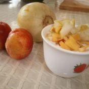 黃桃香瓜酸奶