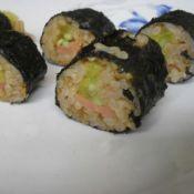 香肠肉松寿司卷