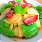 火腿土豆片