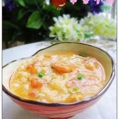 西红柿鲜虾疙瘩汤