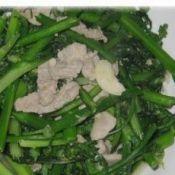 肉片炒甜菜