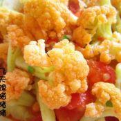 西红柿炖花菜