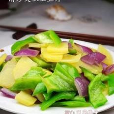 清炒尖椒土豆片