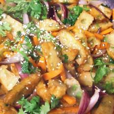 清炒鱼饼蔬菜