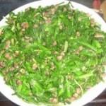 韭菜炒海螺丝