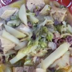 冻豆腐炖白菜土豆