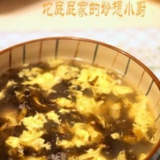 紫菜虾米蛋花汤