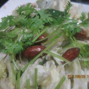 黄瓜拌白菜心