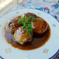 黑椒汁蘑菇酿猪肉