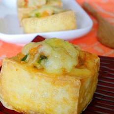 奶酪虾烤豆腐