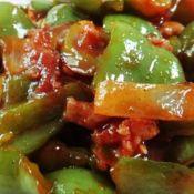 肉丁茄汁炒青椒