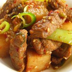 萝卜泡菜牛肉的做法
