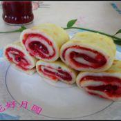 樱桃鸡蛋卷饼