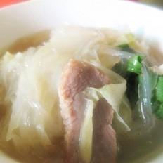 白菜红薯粉丝汤