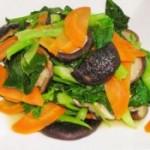 胡萝卜香菇芥蓝