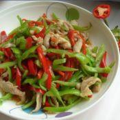 青红椒炒鸡肉