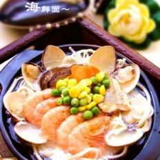 黄鱼浓汁海鲜面