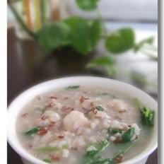 肉虾益母草粥