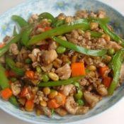 辣椒双豆炒鸡肉