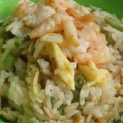 虾仁蛋炒燕麦饭