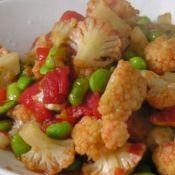 毛豆炒花菜