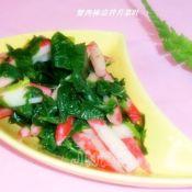 蟹肉棒凉拌芹菜叶