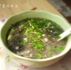 紫菜肉碎汤