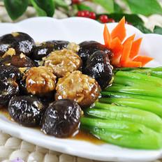 香菇酿肉扒油菜