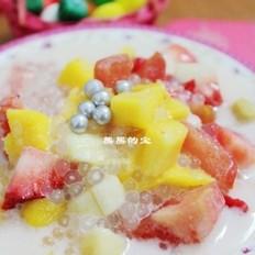 西米椰浆水果捞