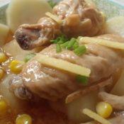 蚝油土豆蒸鸡翅