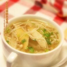 金针菇韩国鱼卷汤