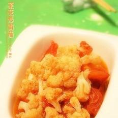 菜花炒番茄