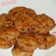 红枣燕麦核桃饼