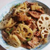 炒牛肉藕片