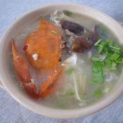 杂菇干贝蟹粥