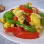 鸡蛋炒双椒