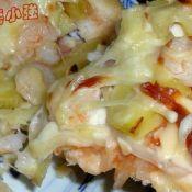 鲜虾土豆披萨