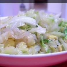 鸡蛋粉丝圆白菜