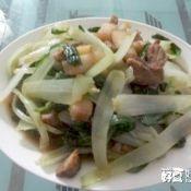 五花肉炒小白菜
