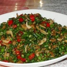 榨菜虾皮煸豇豆