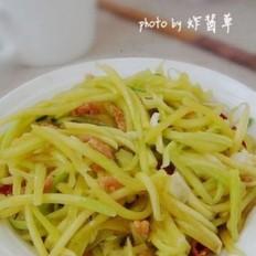 南瓜丝炒虾米