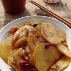 麻辣土豆片炒泡菜