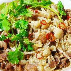 金针菇炒羊肉片