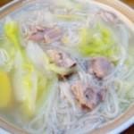羊肉白菜砂锅面