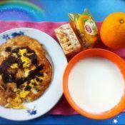 鸡蛋水果饼