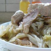 紫薯粉条炖白菜