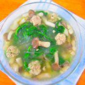 豌豆苗肉丸汤