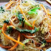 肉丝青菜炒米粉